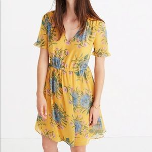 Madewell  Ruffle Sleeve Dress in Painted Blooms